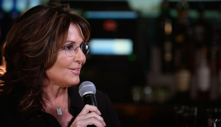 Former Alaska Gov. Sarah Palin speaks during CNN Politics On Tap at Double Barrel Roadhouse at the Monte Carlo Resort and Casino on December 14, 2015, in Las Vegas, Nevada.