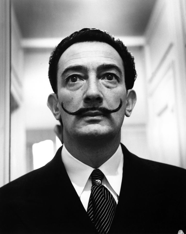 Dali, pictured, met Walt Disney in the 1940s and the worked on a short animated movie together.