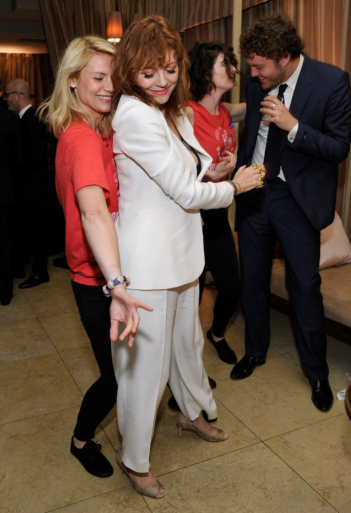 Claire Danes busts a move with Susan Sarandon.