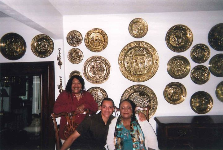 My aunt, Rosemary (right), her daughter, Vicky (left), andme (center).