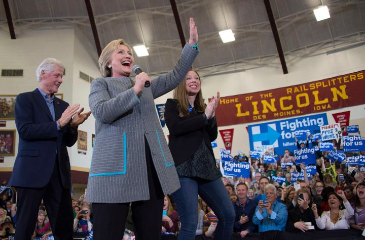 Hillary, Bill and Chelsea Clinton