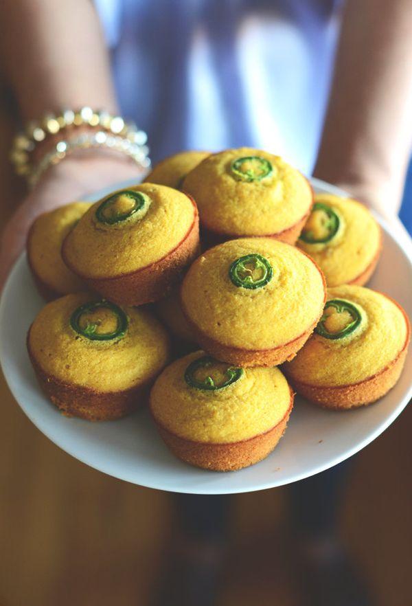 "<strong>Get the <a href=""http://minimalistbaker.com/gluten-free-jalapeno-cornbread-muffins/"" target=""_blank"">Jalapeno Cornbre"
