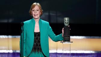 LOS ANGELES, CA - JANUARY 30: Honoree Carol Burnett accepts the Life Achievement Award onstage during The 22nd Annual Screen Actors Guild Awards at The Shrine Auditorium on January 30, 2016 in Los Angeles, California. 25650_021  (Photo by Kevin Winter/Getty Images for Turner)