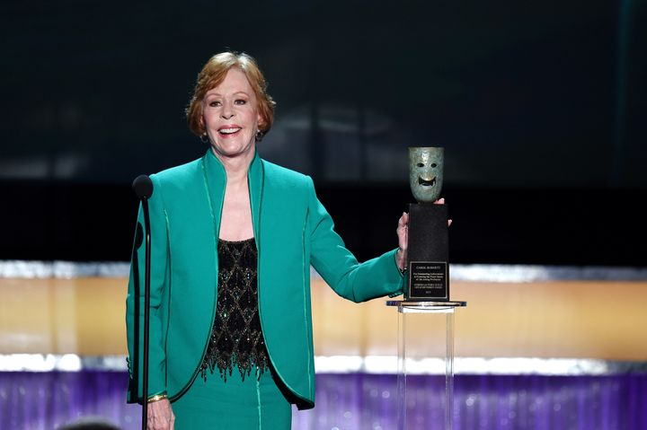Carol Burnett accepts the Life Achievement Award at the Screen Actors Guild Awards on Jan. 30.