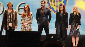 ORLANDO, FL - JANUARY 29:  'Harry Potter' cast members (L-R) Rupert Grint, Bonnie Wright, Matthew Lewis, Katie Leung and Evanna Lynch attend the 3rd Annual Celebration Of Harry Potter at Universal Orlando on January 29, 2016 in Orlando, Florida.  (Photo by Gerardo Mora/Getty Images)