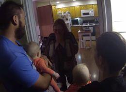 Family Flies Newborn Twins Around The World To Surprise Grandma