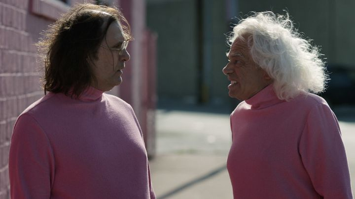 """Sky Elobar and Michael St. Michaels in """"The Greasy Strangler."""""""