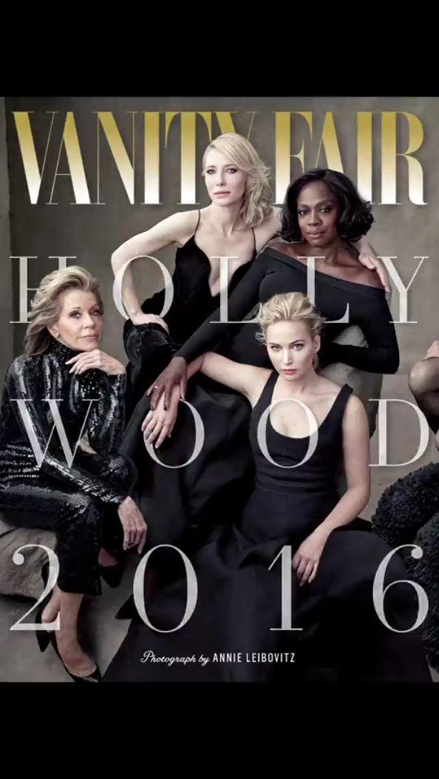 Jane Fonda, Cate Blanchett, Viola Davis and Jennifer Lawrence on Vanity Fair's 2016 Hollywood Issue.