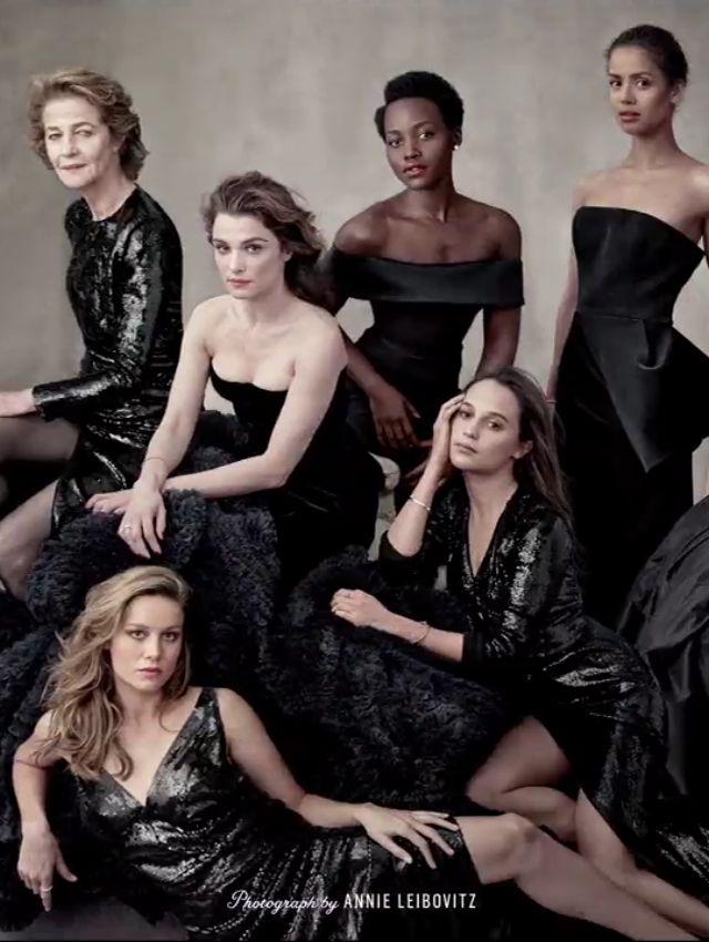 Brie Larson, Charlotte Rampling, Rachel Weisz, Lupita Nyong'o, Alicia Vikander and Gugu Mbatha-Rawon Vanity Fair's 2016