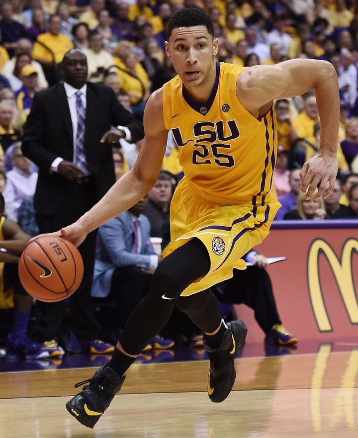 The 6-foot-10 Ben Simmons has shown flashes of sheer brilliance in Baton Rouge.