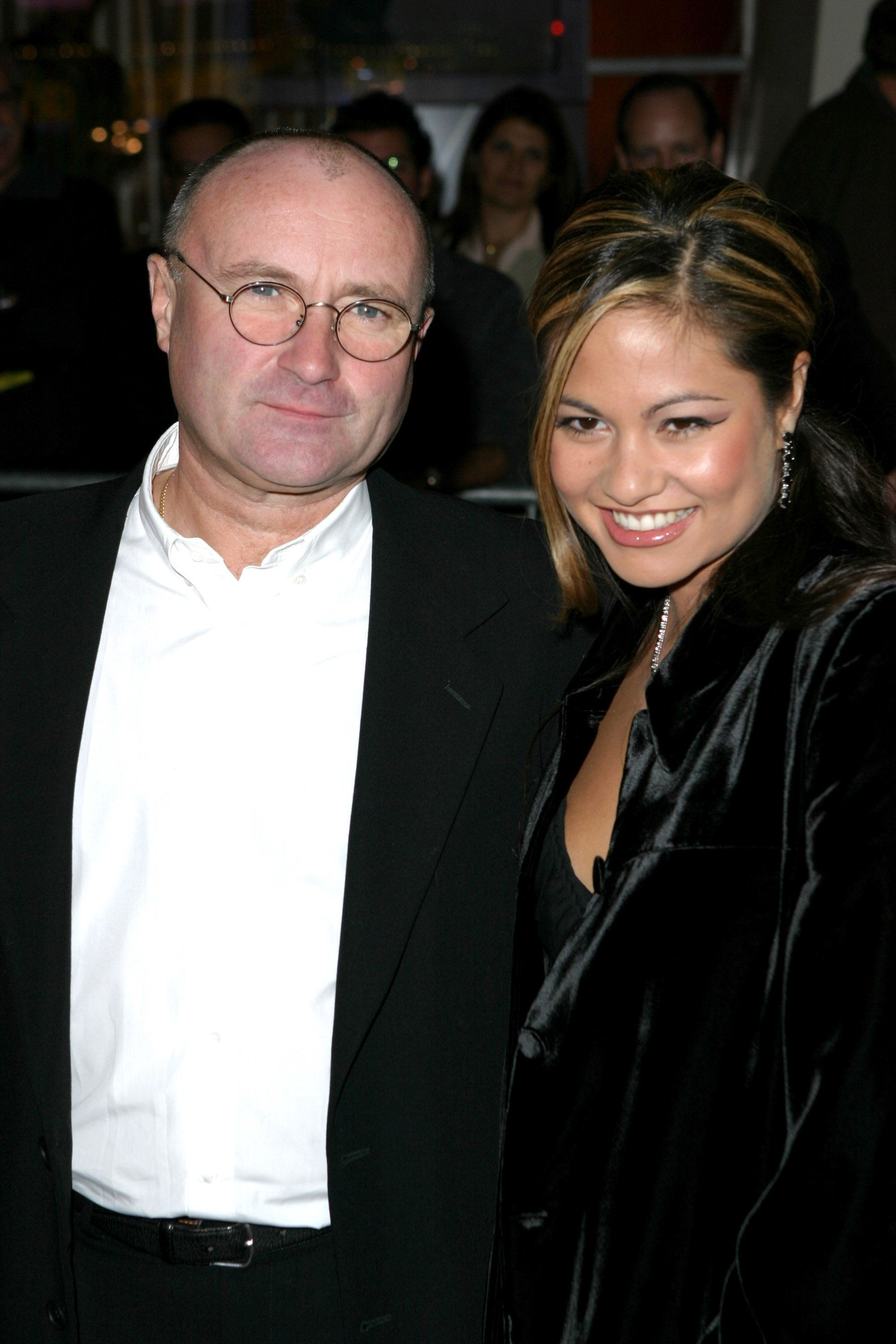 Phil Collins and wife Orianne Cevey (Photo by James Devaney/WireImage)