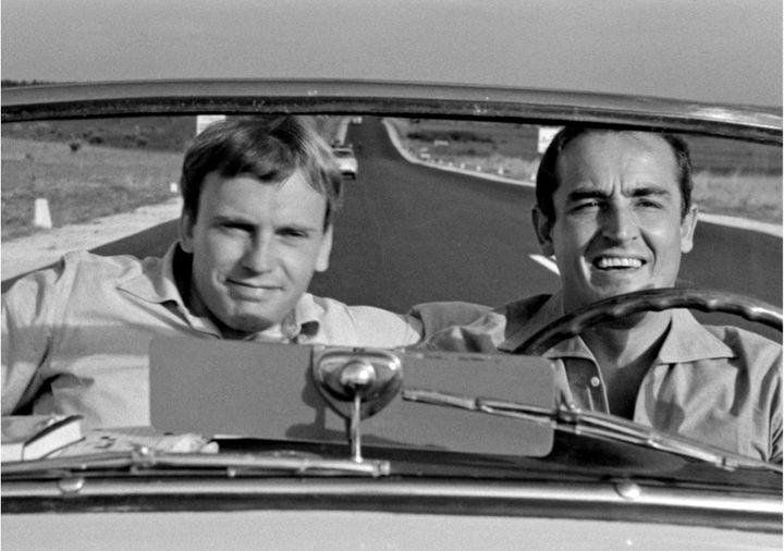 Jean-Marie Trintignant and Vittorio Gassman in <i>Il Sorpasso.</i>