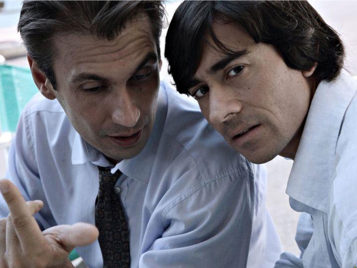 Fabrizio Gifuni and Luigi Lo Cascio in <i>La Meglio Gioventù.</i>