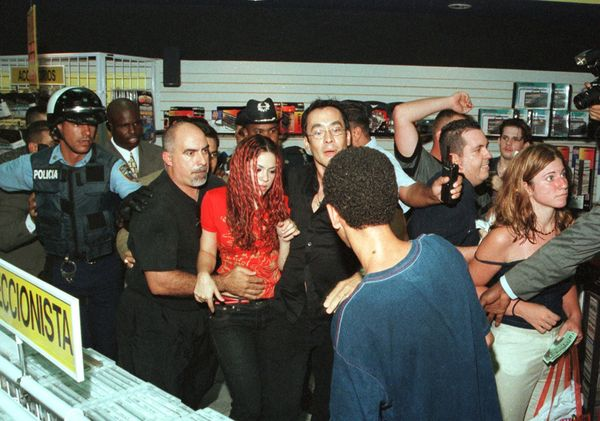 By 1999, Shakira was a huge Latin American star. She even had to be escorted through La Gran Discoteca record store in Puerto