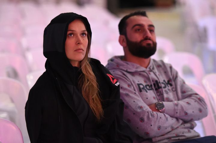Ronda Rousey's mother called Edmond Tarverdyan, pictured in November during the weigh-in before Rousey lost to Holly Holm, an