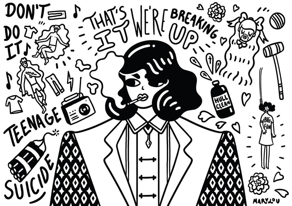 A Breakup-Themed Coloring Book To Help You Get Over An Ex