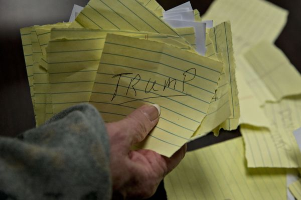 Paper ballots for Donald Trump, president and chief executive of Trump Organization Inc. and 2016 Republican presidential can