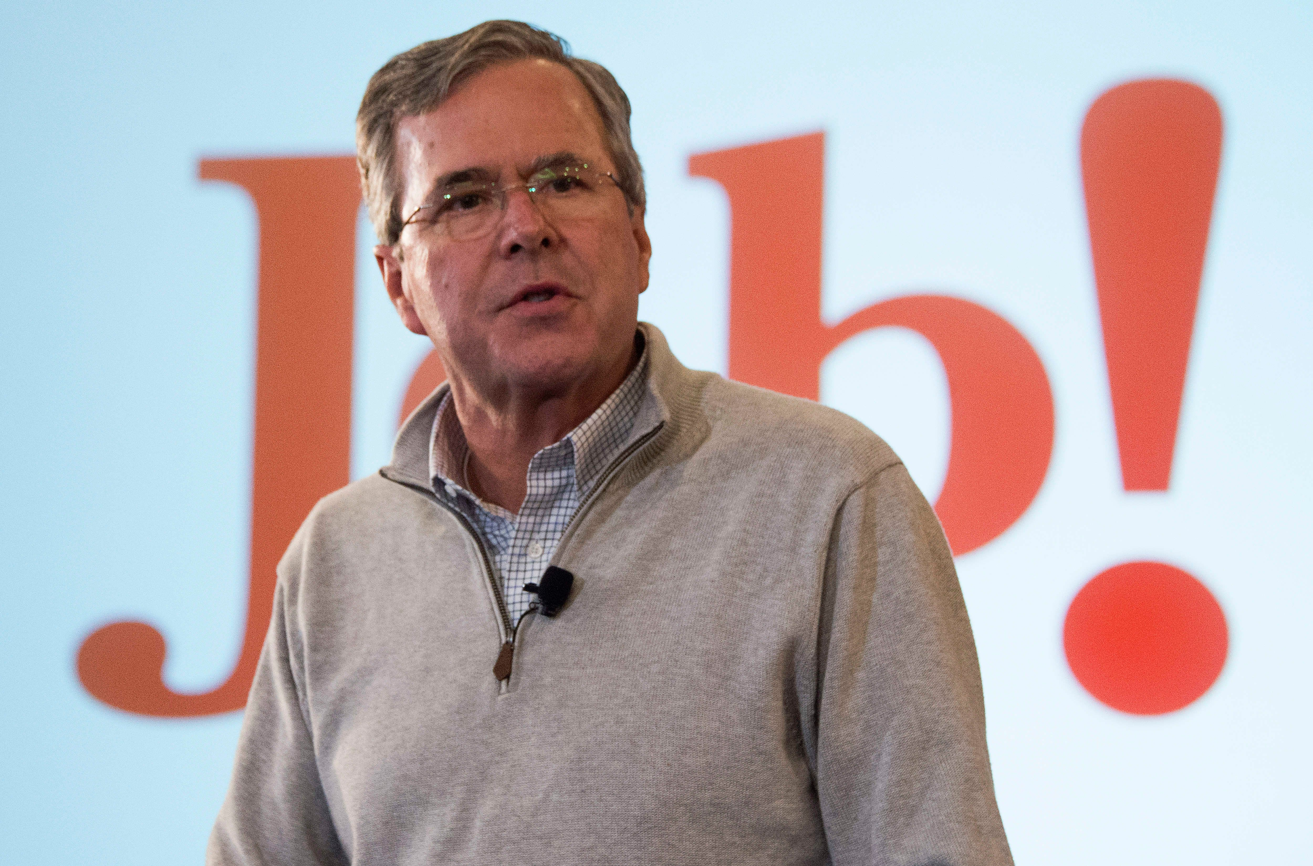 Republican presidential candidate and former Florida Gov. Jeb Bush spent $2,800 per vote in Iowa and received less than 3 per