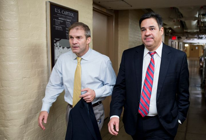 House Freedom Caucus Chairman Jim Jordan (R-Ohio) and HFC member Raul Labrador (R-Idaho) look poised to cause issues on the R
