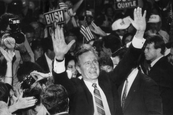 Future president George H.W. Bush didn't even come close to victory in Iowa during the 1988 caucuses. He scored just&nbs