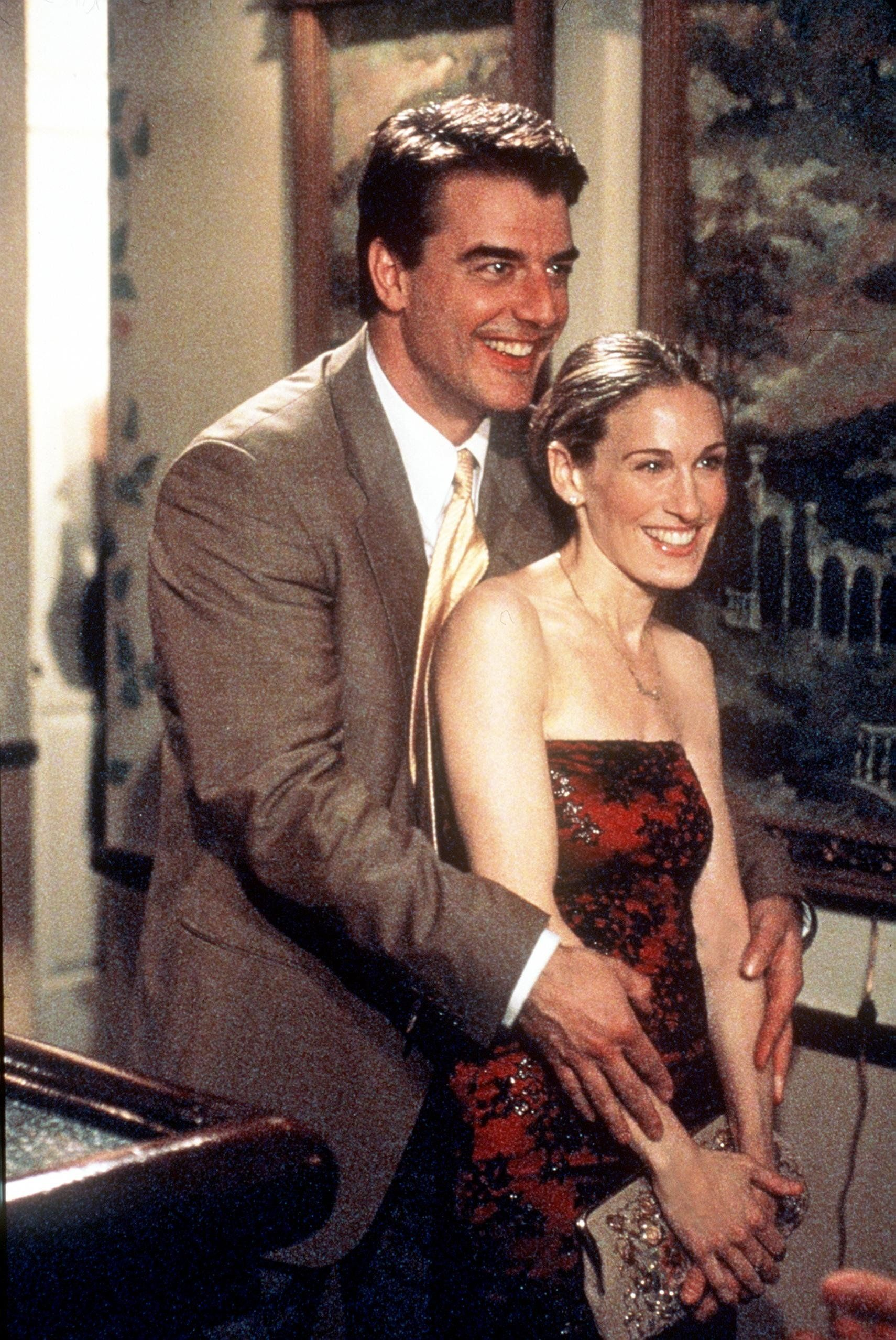 Chris Noth and Sarah Jessica Parker star in 'Sex And The City' ('The Man, The Myth, The Viagra' episode).