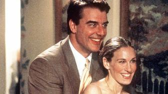 Chris Noth and Sarah Jessica Parker star in 'Sex And The City' ('The Man, The Myth, The Viagra' episode). 1999 Paramount Pictures