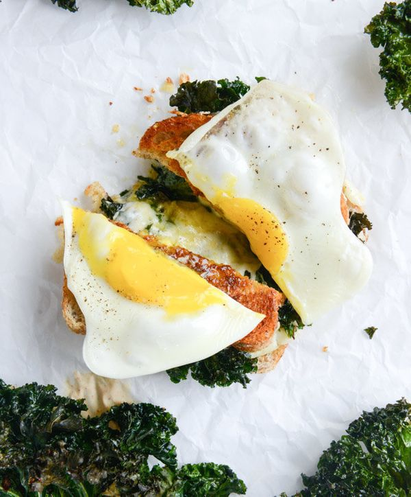 "<strong>Get the <a href=""http://www.howsweeteats.com/2014/10/crispy-kale-grilled-cheese-with-fried-eggs/"" target=""_blank"">Cri"