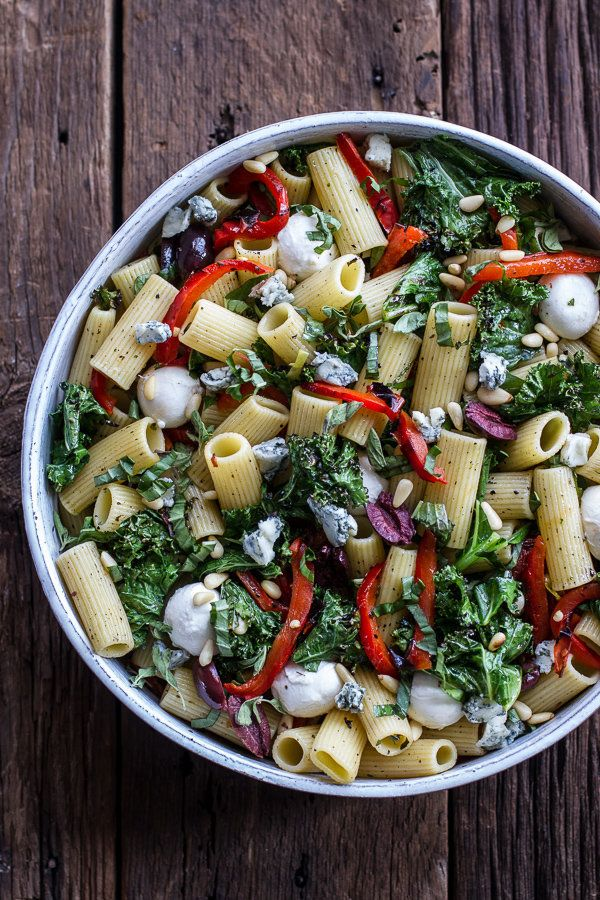 "<strong>Get the <a href=""http://www.halfbakedharvest.com/simple-grilled-kale-red-pepper-tuscan-pasta-salad/"" target=""_blank"">"