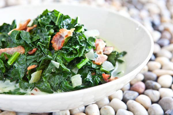 "<strong>Get the <a href=""http://www.steamykitchen.com/10061-kale-bacon-caribbean-recipe.html"">Kale and Bacon, Caribbean Style"