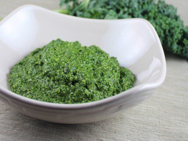 """<strong>Get the <a href=""""http://littleleopardbook.com/2013/03/03/kale-pesto/"""" target=""""_blank"""">Kale Pesto recipe</a> from Litt"""