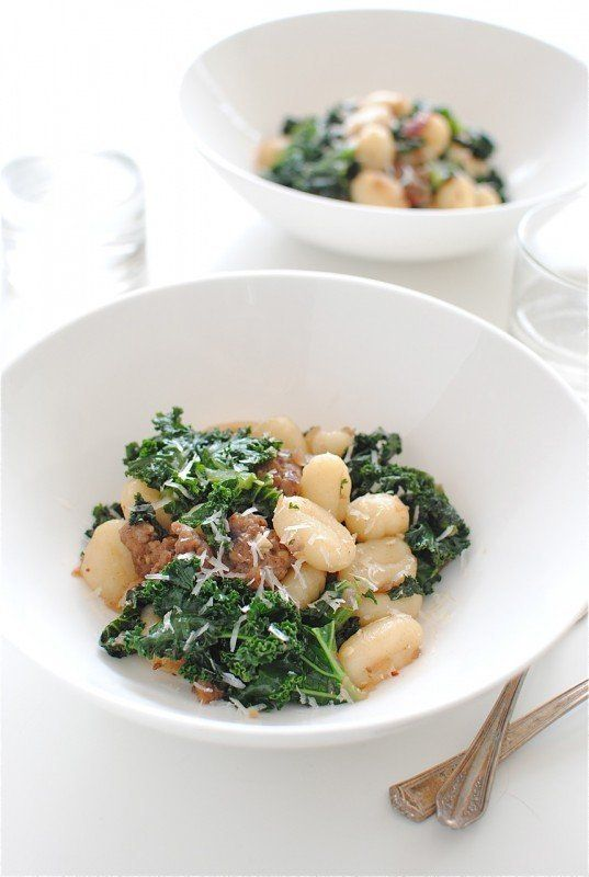 "<strong>Get the <a href=""http://bevcooks.com/2013/02/gnocchi-with-sausage-and-kale/"">Gnocchi with Sausage and Kale recipe</a>"