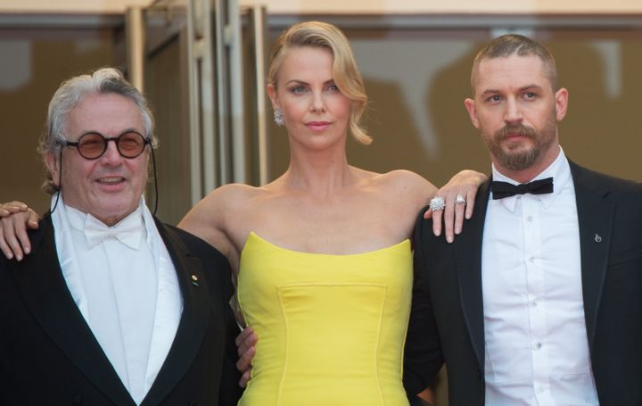 George Miller, Charlize Theron and Tom Hardy attend the 'Mad Max : Fury Road' Premiere during the 68th annual Cannes Film Fes