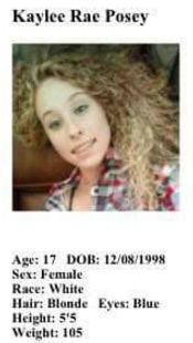Ocoee Police released this information on Kaylee Posey.