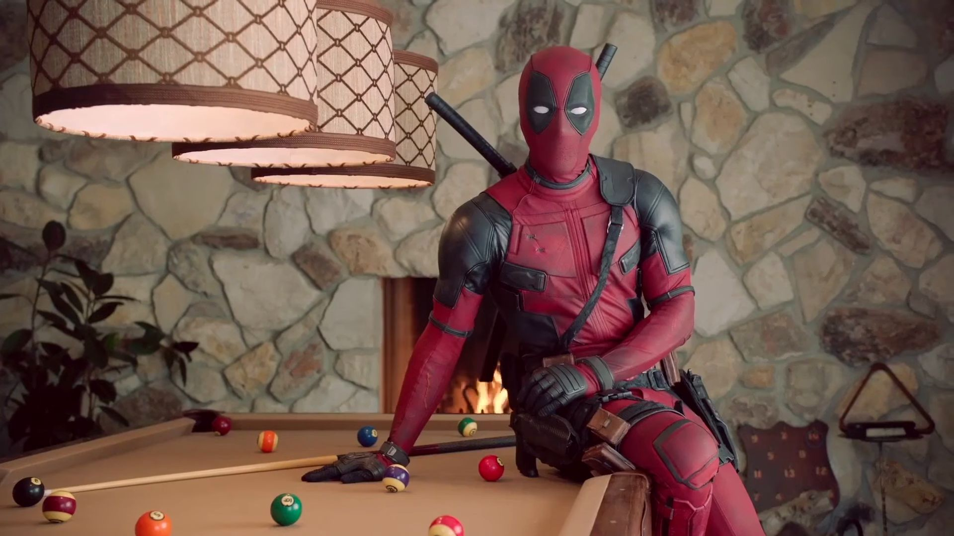 Deadpool is seen in a breast cancer PSA
