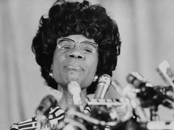 "<a href=""http://www.biography.com/people/shirley-chisholm-9247015"" target=""_blank"">Chisolm</a> broke major barriers when she"