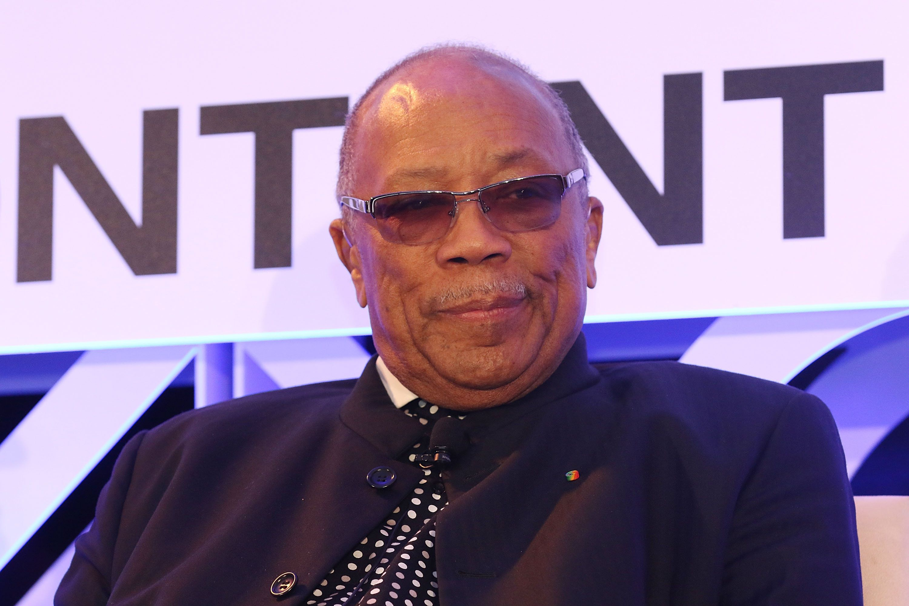 MIAMI BEACH, FL - JANUARY 20:  Quincy Jones attends  NATPE 2016 at Fontainebleau Miami Beach on January 20, 2016 in Miami Beach, Florida.  (Photo by Aaron Davidson/Getty Images)