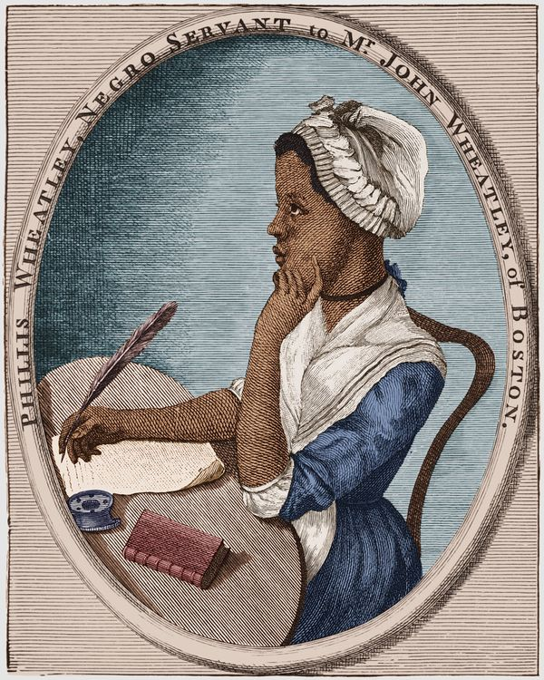 "<a href=""http://www.biography.com/people/phillis-wheatley-9528784"" target=""_blank"">Wheatley</a> was a former slave who was ki"