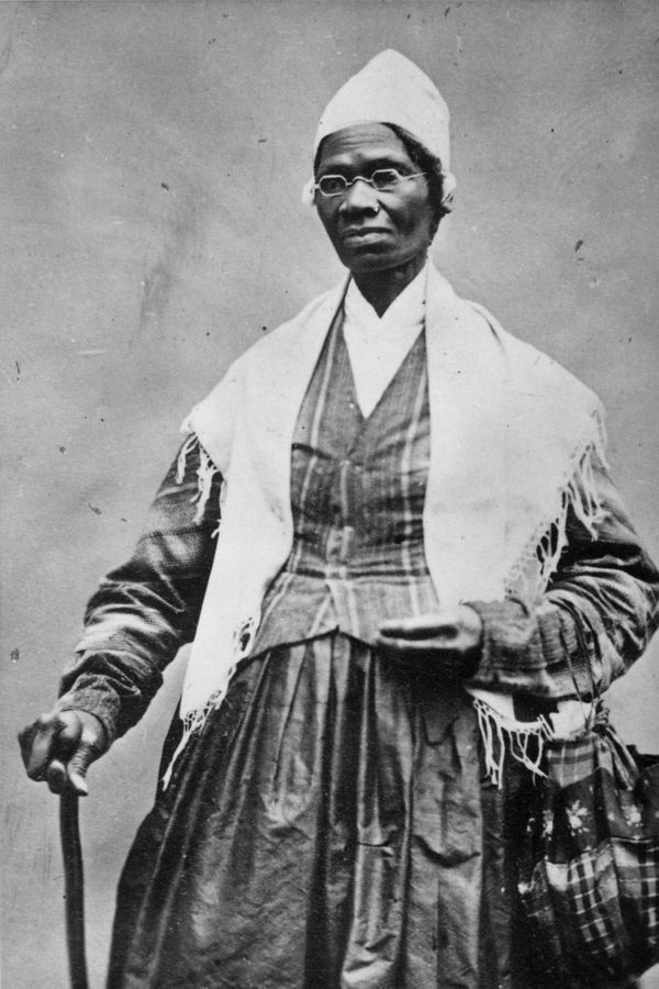 Born Isabella Baumfree, she escaped slavery with her infant daughter and changed her name to Sojourner Truth. She's best know