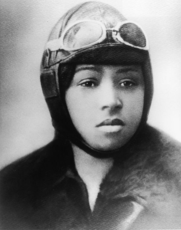 "<a href=""http://www.biography.com/people/bessie-coleman-36928"" target=""_blank"">Coleman</a> became the first black woman to ea"