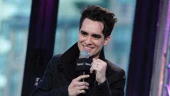 NEW YORK, NY - JANUARY 15:  Lead vocalist of 'Panic! at the Disco' Brendon Urie discusses his upcoming album, 'Death of a BachelorÓ at AOL Build Speaker Series at AOL Studios In New York on January 15, 2016 in New York City.  (Photo by Slaven Vlasic/Getty Images)