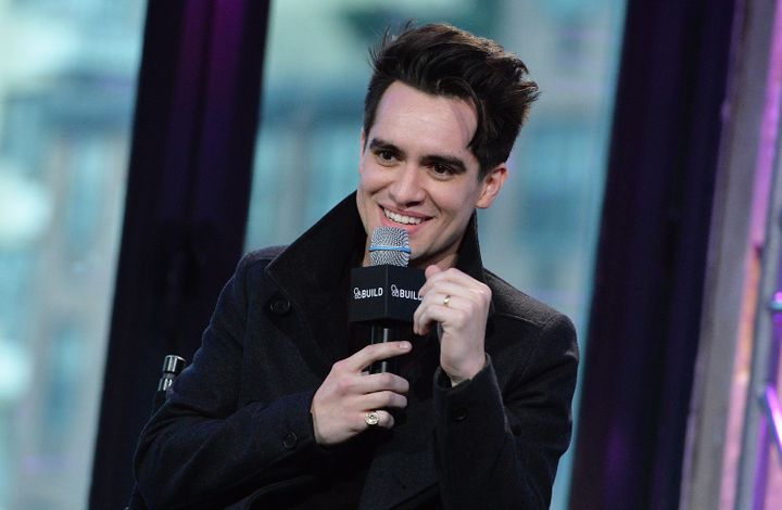 Brendon Urie ofPanic! at the Disco atAOL Build Speaker Series at AOL Studios In New York on January 15, 2016.