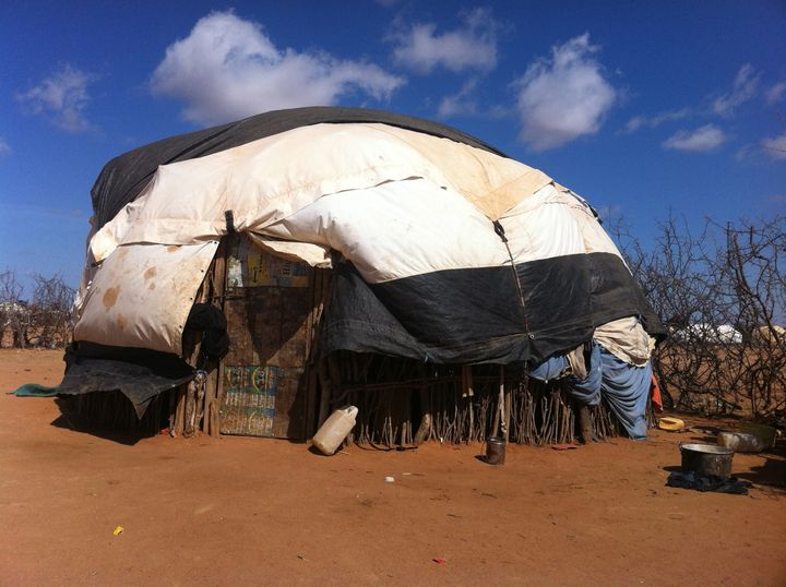 A house in Dadaab refugee camp. Rawlence based the title of his book on the thorns planted in the camp to dema