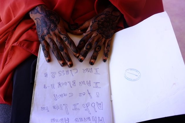 An image of Kheyro's hands. Rawlence shared his account of Dadaab with the residents he'd written about,...