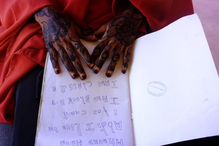 An image of Kheyro's hands. Rawlence shared his account of Dadaab with the residents he'd written about, and they had a good