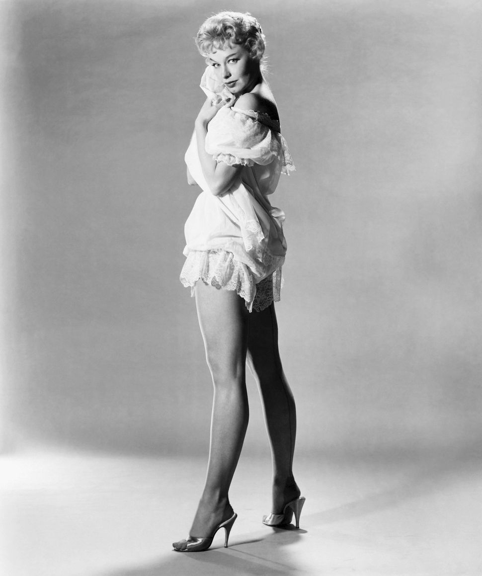 """Actress and stripper Lili St. Cyr poses for a publicty photo for the film """"Son of Sinbad"""" (released in 1955 due to censorship"""