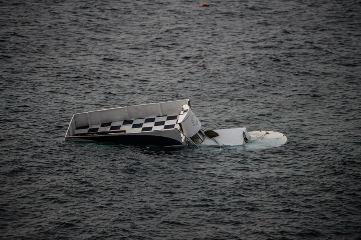 The wreckage of a boat that capsized on Saturday, leaving at least 37 people dead, off the Turkish coast. Greek soccer p