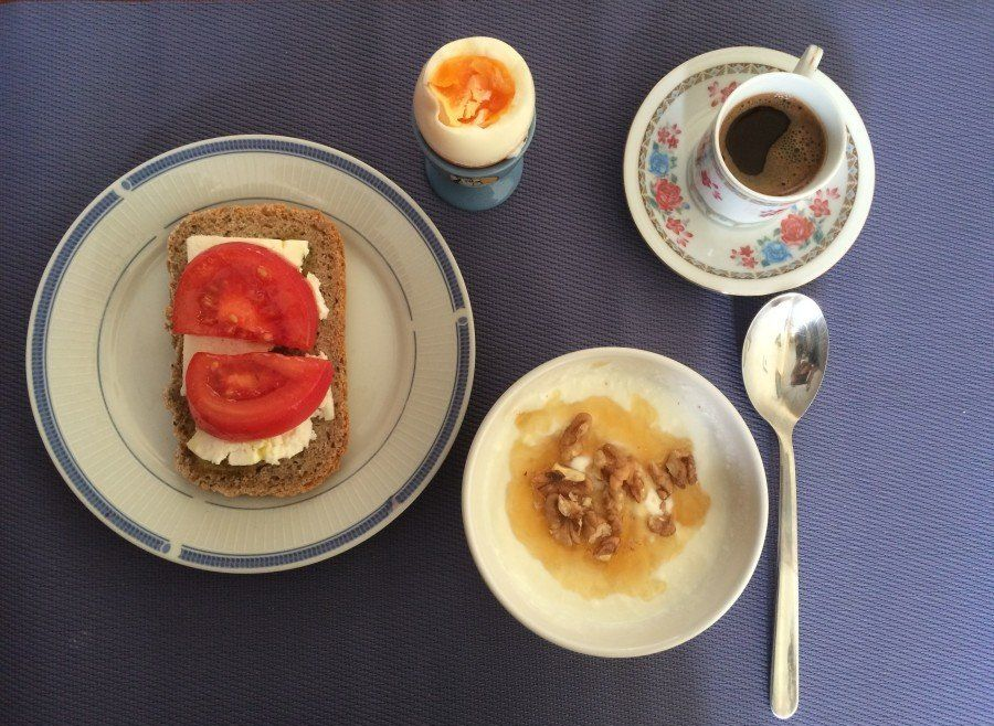 """""""Few Greeks really honor breakfast,"""" says Katerina Nanopoulou. """"Most of us prefer to drink a quick coffee and grab a toasted"""