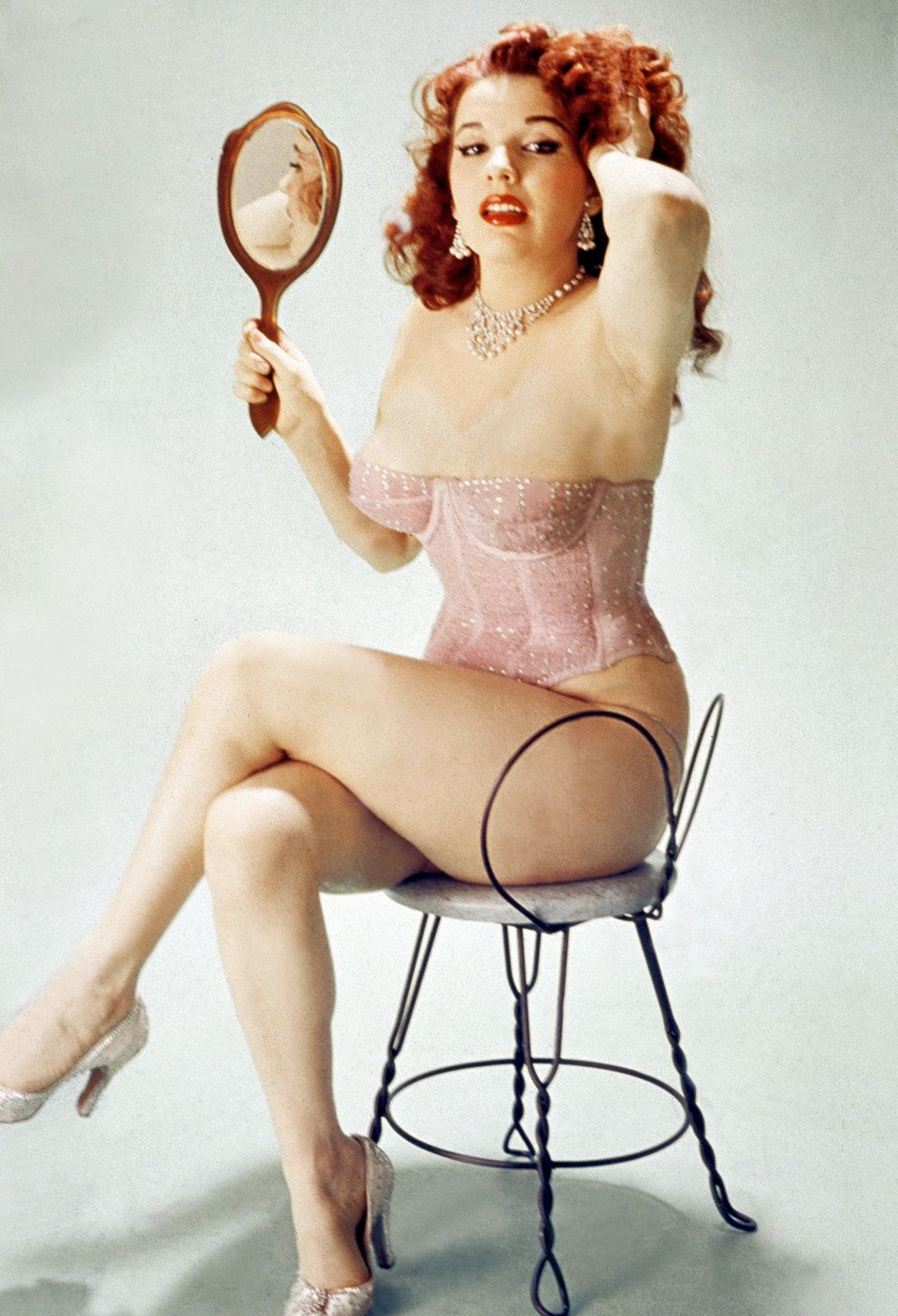 Famous pin-up Blaze Starr (real name Fannie Belle Fleming) in 1950.