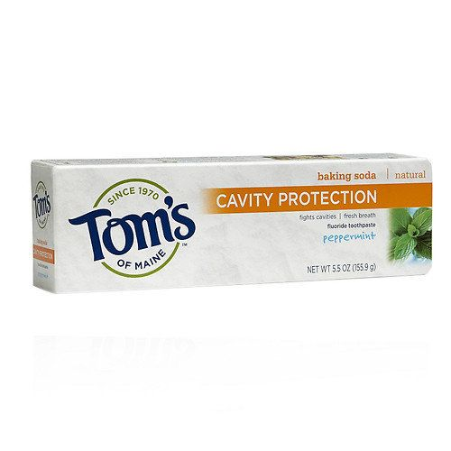 "<i>Tom's of Maine Cavity Protection With Baking Soda Natural Fluoride Toothpaste, <a href=""http://www.drugstore.com/toms-of-m"
