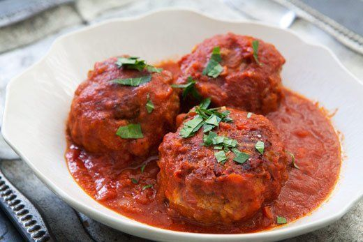 "<strong>Get the <a href=""http://www.simplyrecipes.com/recipes/italian_meatballs/"" target=""_blank"">Italian Meatballs recipe</a"